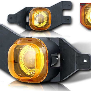 99-04 ford f250 halo projector fog light - yellow performance