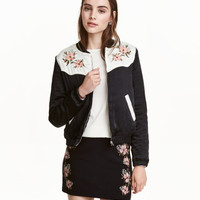 H&M Embroidered Pilot Jacket $49.99