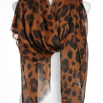David & Young Animal Print Scarf | Nordstrom