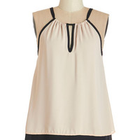 ModCloth Mid-length Sleeveless Poised Presentation Top