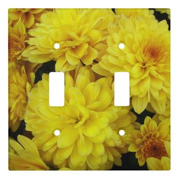 Yellow Chrysanthemums Floral Light Switch Cover