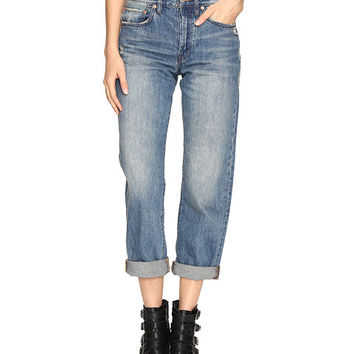 Free People Universal Boyfriend Jeans in Sky Sky - Zappos.com Free Shipping BOTH Ways