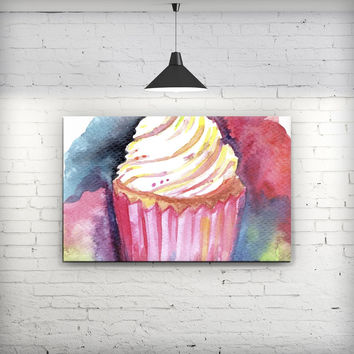 Love, Cupcakes, and Watercolor - Fine-Art Wall Canvas Prints