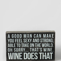 A Good Man & Wine Box Sign
