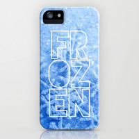 Frozen - text version - for iphone iPhone & iPod Case by Simone Morana Cyla