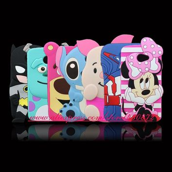 Batman Dark Knight gift Christmas For LG K5 Hot 3D Silicon Sulley Pig Minnie Stitch Cat Batman Cartoon Soft Phone Back Skin Cover Case for LG K5 X220 AT_71_6