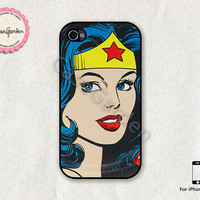 iPhone 4 Case, iPhone 4s Case, iPhone Case, iPhone Hard Case, iPhone 4 Cover, iPhone 4s Cover, Wonder Woman