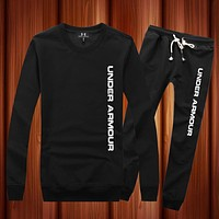 Under Armour Woman Men Long Sleeve Shirt Top Tee Pants Trousers Set Two-Piece
