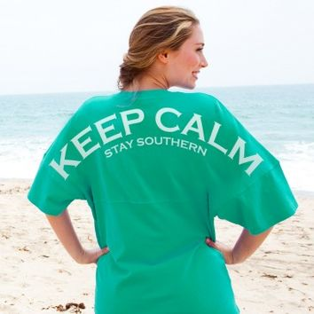 Keep Calm Stay Southern - Unisex Short Sleeve V-Neck Spirit Football Jersey