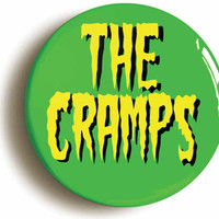 The Cramps garage punk psychobilly trash badge button pin (1inch/25mm diameter)