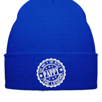 Pappy - The Man The Myth The Legend embroidery hat - Beanie Cuffed Knit Cap