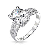 Bling Jewelry Classy Clear CZ Ring
