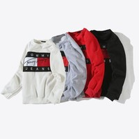 PEAPON Tommy Hilfiger Woman Men Fashion Top Sweater Pullover