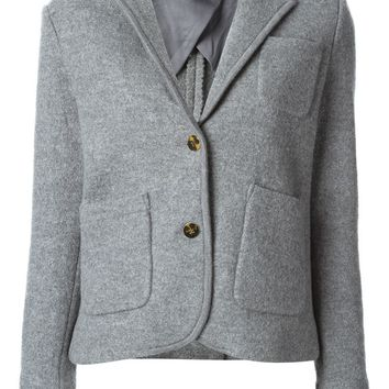 Marc By Marc Jacobs ribbed collar and cuffs casual blazer