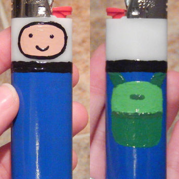 Adventure Time Custom Bic Lighters Finn The Human Jake the Dog & Cake handmade