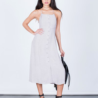 Halter Tied Midi Dress