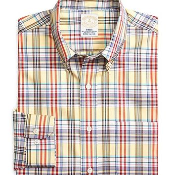 Men's Golden Fleece Slim Fit Framed Windowpane Sport Shirt