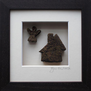 """Bless This House' Picture, Made in Ireland from 10,000 year old Irish Bog/Peat"