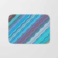 Colorful lines Bath Mat by Knm Designs