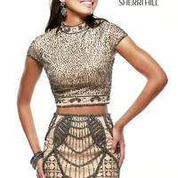 2014 Sherri Hill Sleeved Short Homecoming Dress 41004