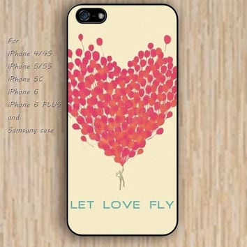 iPhone 5s 6 case up heart pink case iphone case,ipod case,samsung galaxy case available plastic rubber case waterproof B230