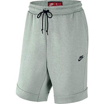 Nike Men's Sportswear Tech Fleece Shorts Barley Grey 805160 -006
