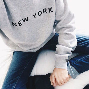Crewneck Sweatshirt - New York - Brooklyn - Manhattan - Eastcoast - Yankees - I love new york - Baseball Shirt - Oversized Sweatshirt-Hoodie