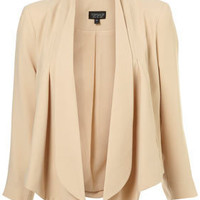 Nude Crop Waterfall Jacket - Jackets & Coats - Clothing - Topshop USA