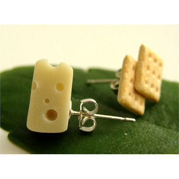 Cheese n Crackers Earrings