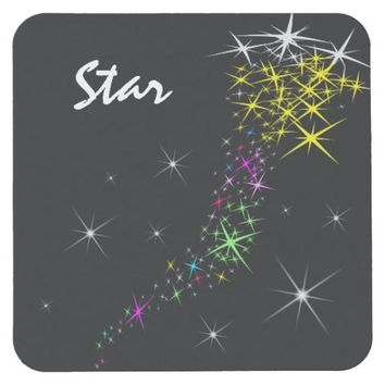 Christmas Star Square Paper Coaster