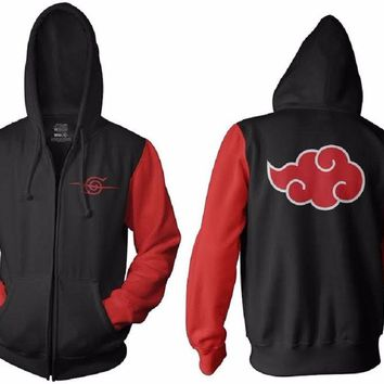 Naruto Shippuden Anti Leaf Clouds Adult Fleece Hoodie