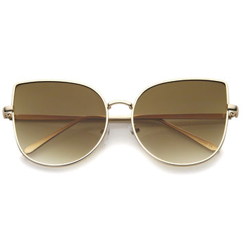 Oversize Indie Flat Gradient Lens Cat Eye Sunglasses A851