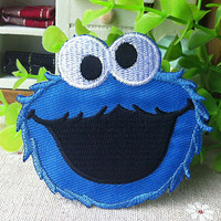 COOKIE MONSTER Logo iron on patch E039 by happysupply on Etsy