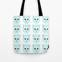 Miss Kitty Tote Bag by Kathleen Sartoris