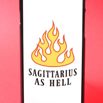 Sagittarius as Hell Phone Case
