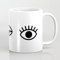 Eyes Coffee Mug by Printapix