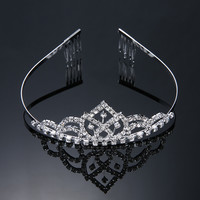 Princess Crown Bride Pageant Crowns Hair Jewelry Queen Diadem Wedding Tiaras For Brides Quinceanera Crowns Accessories N094