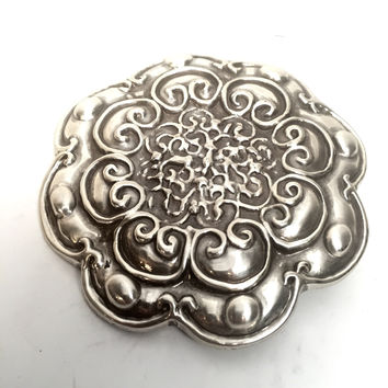 Engraved Flower Belt Buckle