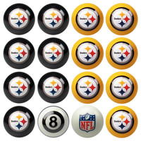 Pittsburgh Steelers NFL 8-Ball Billiard Set