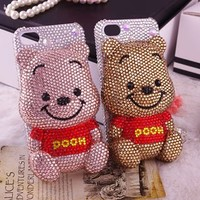 Aliexpress.com : Buy 3D cute cartoon couple mobile phone case for iphone 4/4s handmade diamond bling phone cover for iphone 4g 312 from Reliable rhinestone phone case suppliers on Yiwu Ciye Clothing Accessories Co.,Ltd