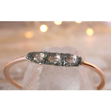 Herkimer Diamond April Birthstone Gemstone Bracelet