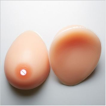 500g/piece D cup artificial false bust silicon gel realistic fake breast form Enhancer Transvestite Crossdress user Mastectomy