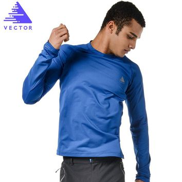 VECTOR Sporting T-Shirts Men Women Long Sleeve Quick Dry Running T-Shirt Outdoor Training Fitness Tops TXD10023