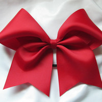 "3"" Solid Red Cheer Bow"