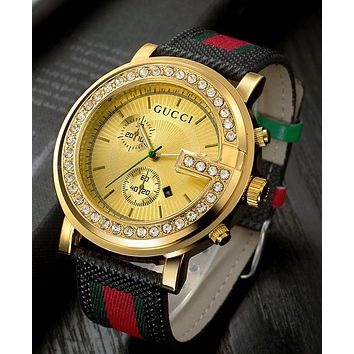 GUCCI Fashion Ladies Men Watch Little Ltaly Stylish Watch Golden G-YF-GZYFBY