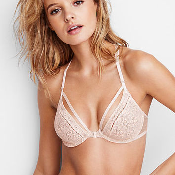 XO Lace Front-Close Unlined Demi Bra - Very Sexy - Victoria's Secret