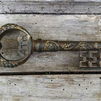 French vintage key, French country decor, Voodoo pass key, hoodoo conjure, reversing spell, protection charm, rusty old keys