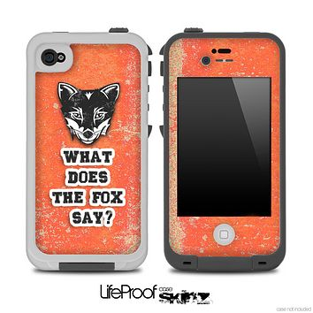 What Does the Fox Say Red Grunge Skin for the iPhone 5 or 4/4s LifeProof Case