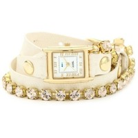 La Mer Collections Women's LMMULTI5001 Chandelier Crystal Chain Collection Silk Chandelier Watch - designer shoes, handbags, jewelry, watches, and fashion accessories | endless.com