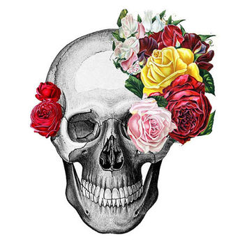 Temporary Tattoo -   Flower Skulls - Choose your pattern